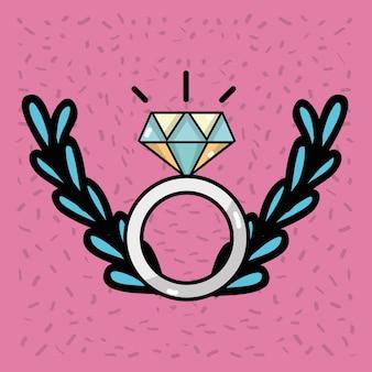 Merried parteidekorationsentwurf zur romantischen zeremonie