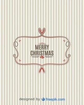 Merry christmas banner mit gestreiften hintergrund