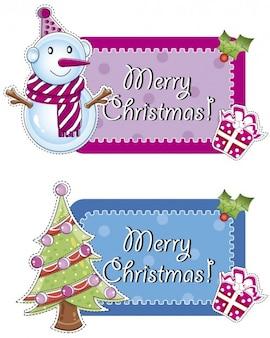 Merry christmas etiketten