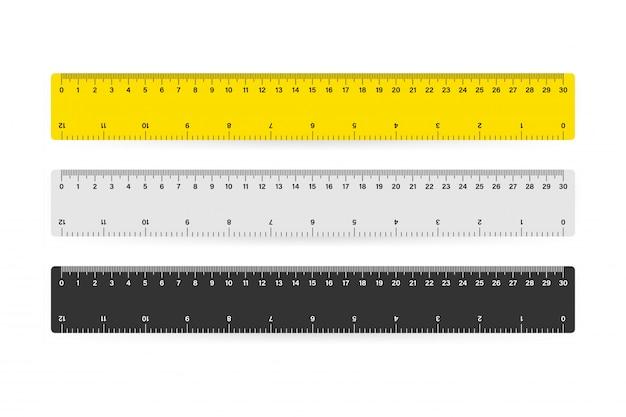 Messen sie die metrische messung des bandlineals in der schule.