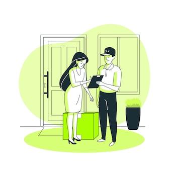 Messenger konzept illustration