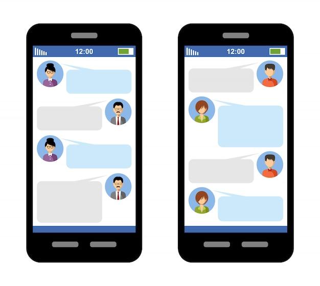 Messenger-konzept