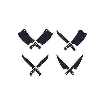 Messer und hackmesser-symbol