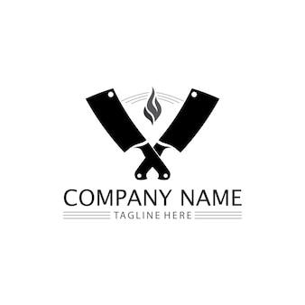 Messer und küchenchef symbol vektor besteck küchenutensilien symbol zum kochen design logo