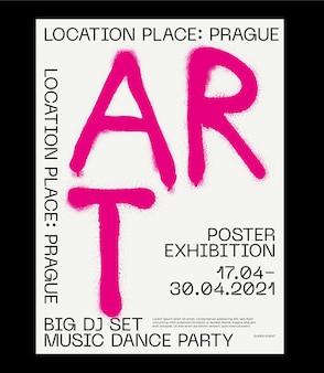 Meta moderne ästhetik des schweizer design-plakat-layouts brutalistische kunst inspirierte vektorgrafikvorlage