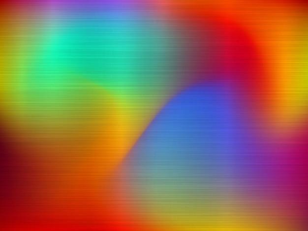 Metall abstrakter bunter farbverlaufstechnologiehintergrund mit poliertem gebürstetem chromstahl