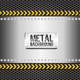 Metall hintergrund auf gepunkteten muster
