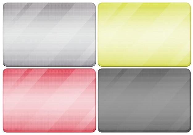 Metall texturen in vier farben