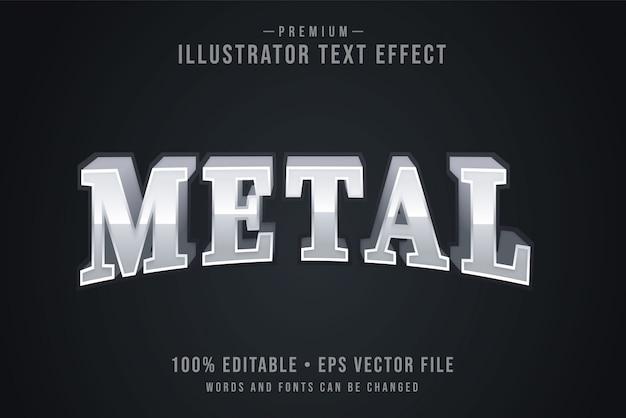 Metallbearbeitbarer 3d-texteffekt oder grafikstil mit lichtverlauf