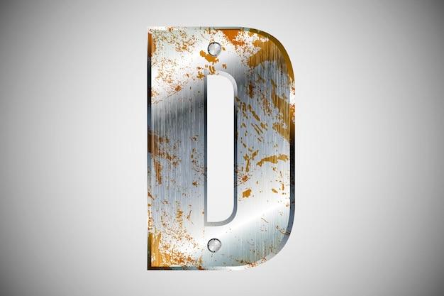 Metallbuchstaben des alphabets. illustration