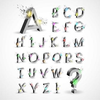 Metallic alphabet