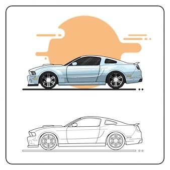 Metallic auto leicht editierbar
