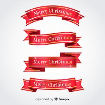 Metallic farbbänder weihnachtskollektion