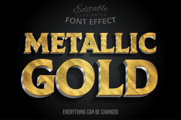 Metallic gold 3d text-effekt mit silber extrudieren