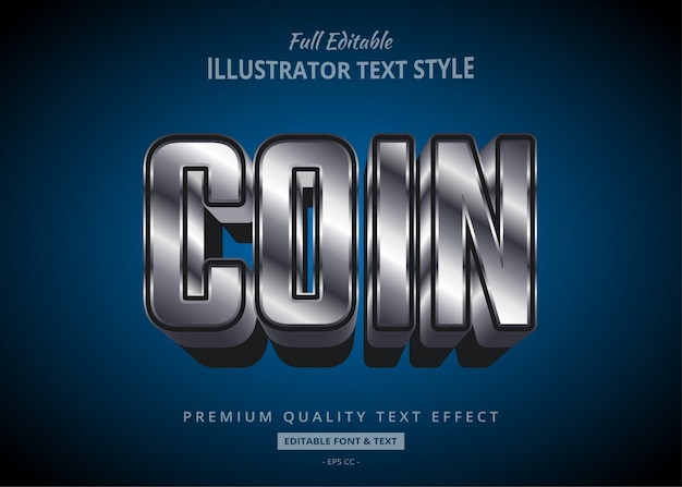 Metallic style text style effekt