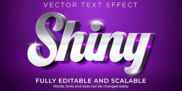 Metallisch glänzender texteffekt, bearbeitbarer luxus und eleganter textstil