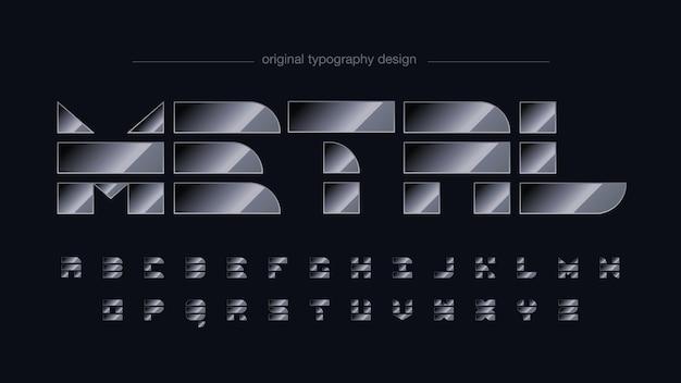 Metallische abstrakte formen typografie