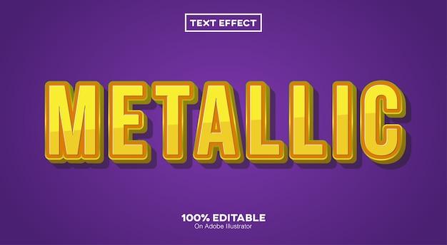 Metallischer 3d-texteffekt