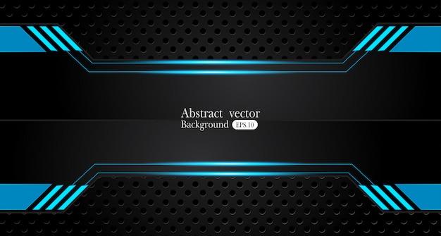 Metallischer blauer schwarzer hintergrund