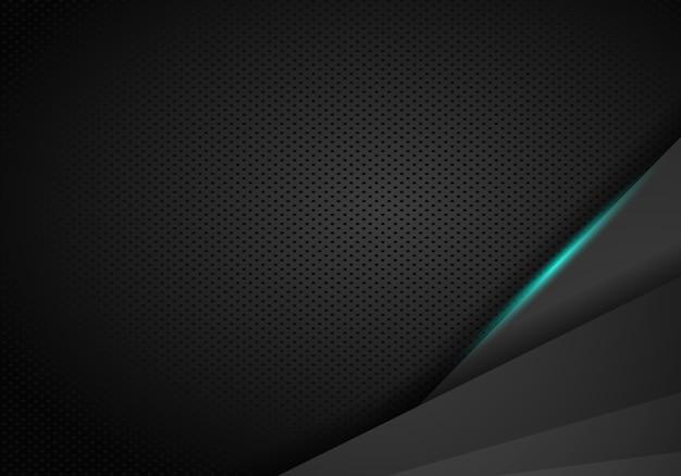 Metallischer hintergrund mit blauem glänzendem