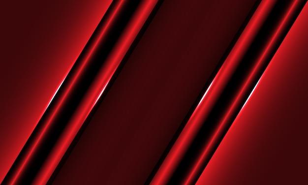 Metallischer schrägstrich der abstrakten roten schwarzen linie mit dem modernen futuristischen hintergrund des leerraumdesigns.
