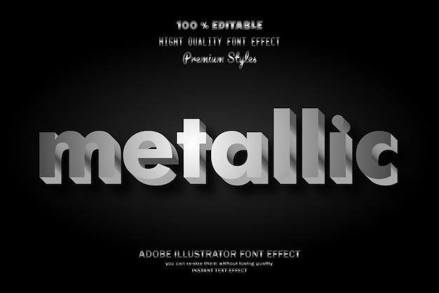 Metallischer text, gusseffekt