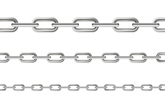 Metallisches baumelndes nahtloses metall der kettenglieder.