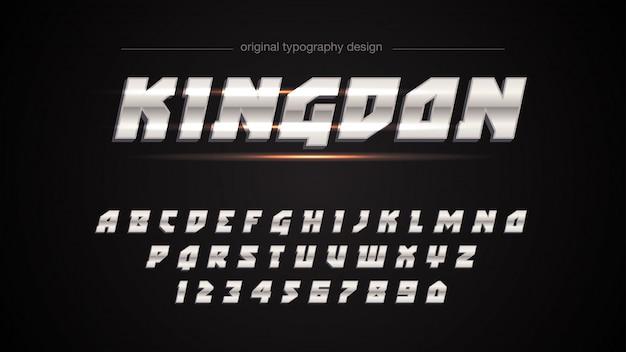 Metallisches sport-typografie-design