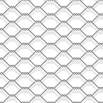 Metallkettenglied zaun nahtlos auf weiß