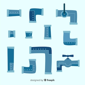 Metallrohrsammlung im flachen design