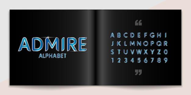 Metallschrift und alphabet gesetzt.