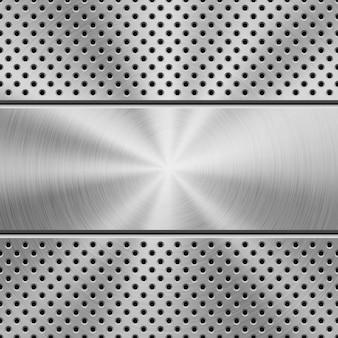 Metallstrukturierter technologie-perforierter hintergrund