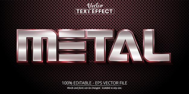 Metalltext glänzend silberfarben stil bearbeitbaren texteffekt