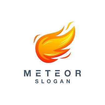 Meteor logo design für ihr unternehmen einsatzbereit