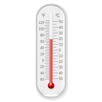 Meteorologiethermometer celsius fahrenheit realistisch