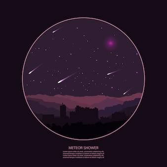 Meteorregen. meteorregen.