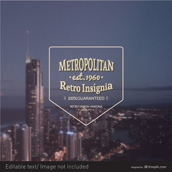 Metropol vektor retro-insignien