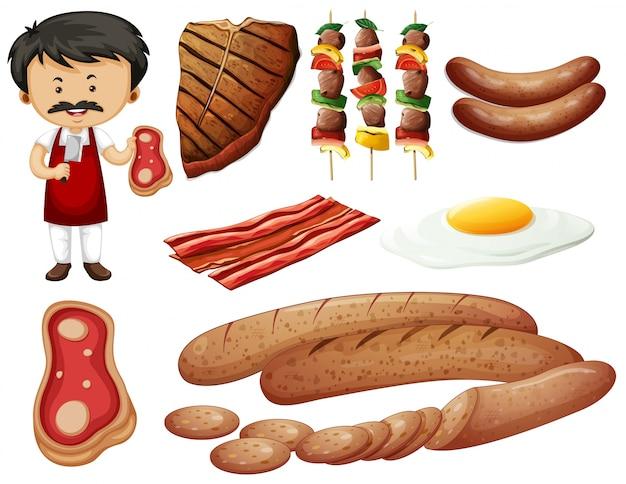 Metzger und fleischwaren