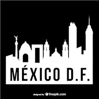 Mexico df schwarz-weiße logo