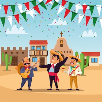 Mexikaner cinco de mayo-karikatur