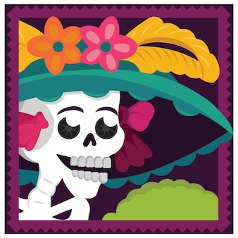 Mexikanische catrina illustration