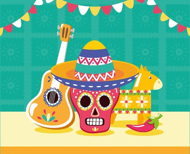 Mexikanische elemente für viva mexico
