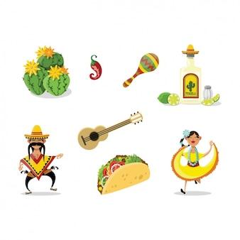 Mexikanische elemente sammlung