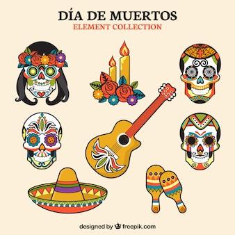 Mexikanische elementvielfalt mit ursprünglichem stil