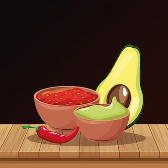 Mexikanische essen cartoons