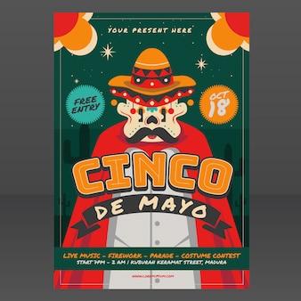 Mexikanische festival plakat vorlage