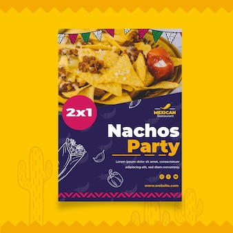 Mexikanische food flyer vorlage
