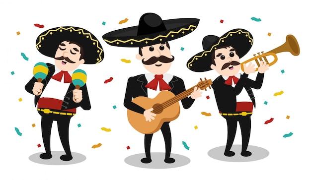 Mexikanische gruppe von mariachi