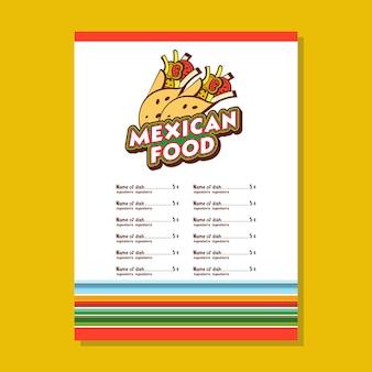 Mexikanische küche. eine reihe von beliebten mexikanischen gerichten. fastfood.