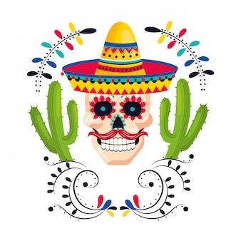 Mexikanische kultur mexiko cartoon